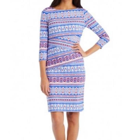 J. McLaughlin tiered printed Catalina cloth dress